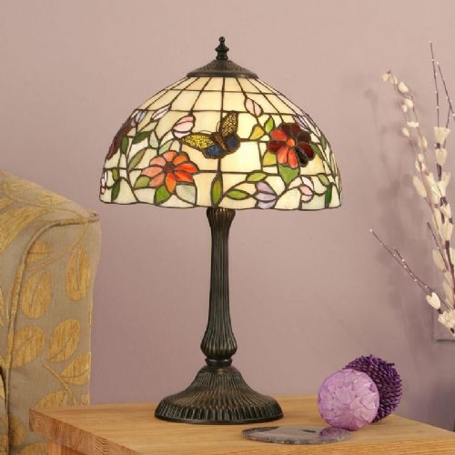Butterfly Small Table Lamp TV158T (Tiffany style)